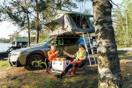 Camping med taktält